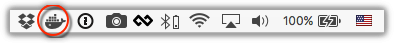 Whale in menu bar