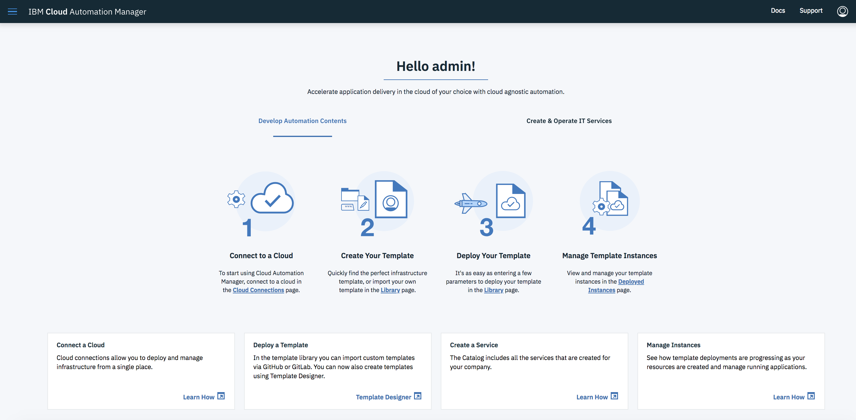 IBM Cloud Automation Manager - Docker Store